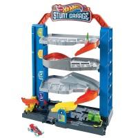 Jucarie Hot Wheels City Garajul cu cascadorii cu 1 masinuta
