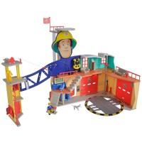 Jucarie statie de pompieri Pompierul Sam cu figurina si accesorii Simba