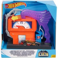 Pista de masini Hot Wheels Mattel City Downtown Speedy Fuel Stop cu masinuta