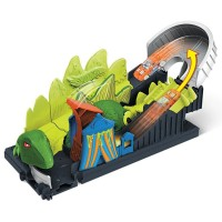 Pista de masini Hot Wheels Mattel Toxic Dino coaster attack cu masinuta