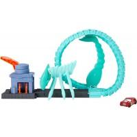 Pista de masini Hot Wheels Mattel Toxic Scorpion attack cu masinuta