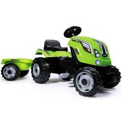 Tractor cu pedale si remorca Smoby Farmer XL verde
