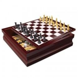 Set 10 jocuri Spin Master in cutie de lemn