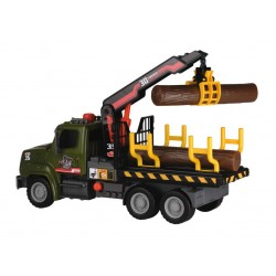 Camion cu busteni si macara 32 cm Dickie Toys