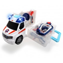 Ambulanta Push and Play cu accesorii Dickie Toys