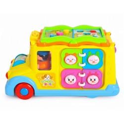 Autobuz scolar cu sunete si lumini Hola Toys