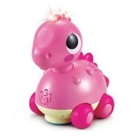 Jucarie dinozaur roz cu sunete si lumini
