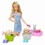 Set de joaca Barbie Family papusa cu animalute