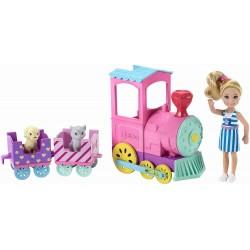 Papusa Barbie Chelsea cu trenulet