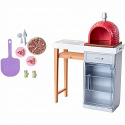 Set Barbie mobilier exterior cu cuptor pizza