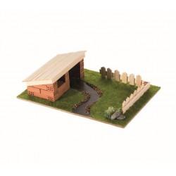 Set constructie Brick Trick Garaj din caramidute ceramice