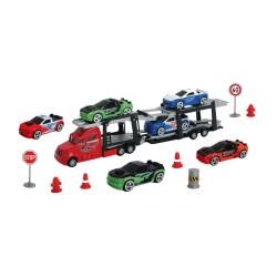 Set camion transportor cu 6 masinute