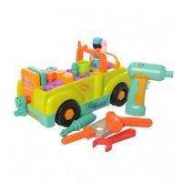 Camionul cu unelte, lumini si sunete al micului mecanic