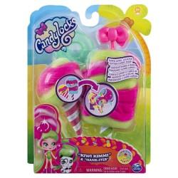Set figurine papusa si animalut misterioase si parfumate Kiwi Kimmi Candy Locks