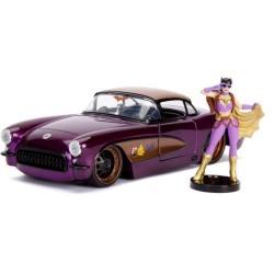 Masinuta metalica DC Comics Bombshells 1957 Chevy Batgirl scara 1:24