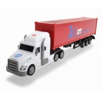 Camion container cu remorca Dickie DT Logistics 42 cm