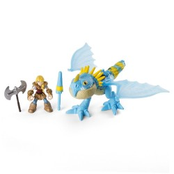 Figurina dragon cu calaret Astrid si Stormfly Dragons
