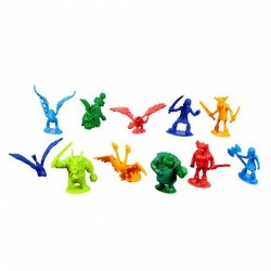 Set 25 figurine Dragoni in galetusa