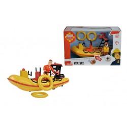 Set de joaca Pompierul Sam - Barca Neptun cu figurina