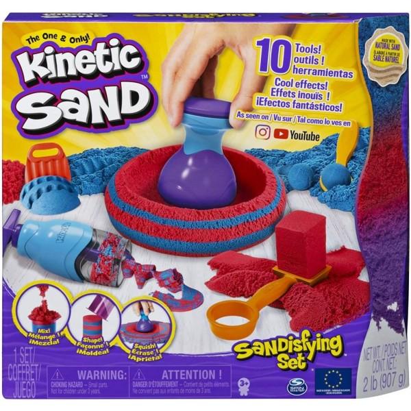 Set nisip modelabil Kinetic Sand cu 10 accesorii