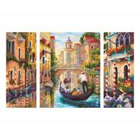 Kit 3 tablouri pictura pe numere Schipper - In Venetia pe canale