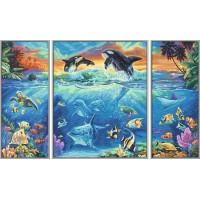 Kit 3 tablouri pictura pe numere Schipper - Viata marina