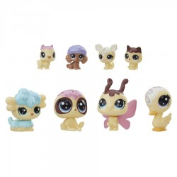 Set 8 figurine animalute crem colectia speciala My Littlest Pet Shop