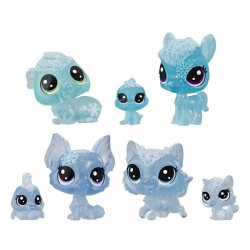 Set 7 figurine Littlest Pet Shop - Tinutul Inghetat Albastru
