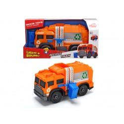 Masina pentru gunoi cu sunete si lumini 30 cm Dickie Toys