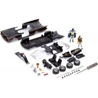 Kit de construit masinuta metalica Batmobil Clasic cu figurina