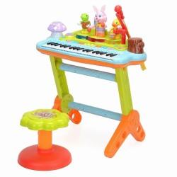 Orga muzicala cu scaunel si orchestra animalutelor