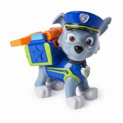 Figurina Rocky in uniforma de politie Patrula Catelusilor
