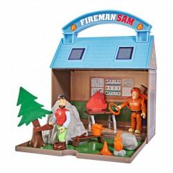 Pompierul Sam - Centru de activitati montane cu 2 figurine