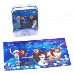 Puzzle 3D Frozen in cutie de metal