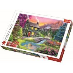 Puzzle Trefl - Muntele Idyll 500 piese