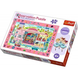 Puzzle Trefl de observatie Vizita la opera 70 piese