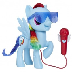 Ponei Rainbow Dash cu microfon si sunete