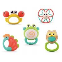 Set 5 jucarii pentru dentitie in cutie Orchestra Animalutelor