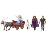 Set de joaca cu 5 personaje Frozen 2 - Aventuri pe sanie