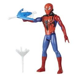 Figurina Spider-Man cu echipament si lansator 30 cm