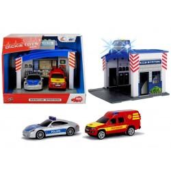 Statie de politie cu sunete si lumini Dickie Toys