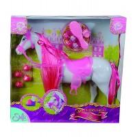 Calutul Steffi Love cu coama roz al printeselor