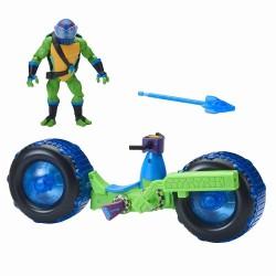 Vehicul cu figurina Leonardo Testoasele Ninja