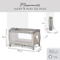 Pat pliabil Hauck Sleep and Play Go Plus Beige