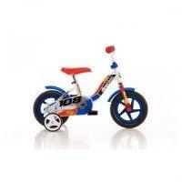 Bicicleta 108 FL cu maner pentru parinti - Dino Bikes-108 Albastru