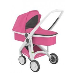 Carucior 2 In 1 Greentom 100% Ecologic White Pink