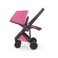 Carucior Greentom Reversible 100% Ecologic Black Pink