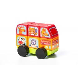 Jucarie din lemn Cubika Mini Bus