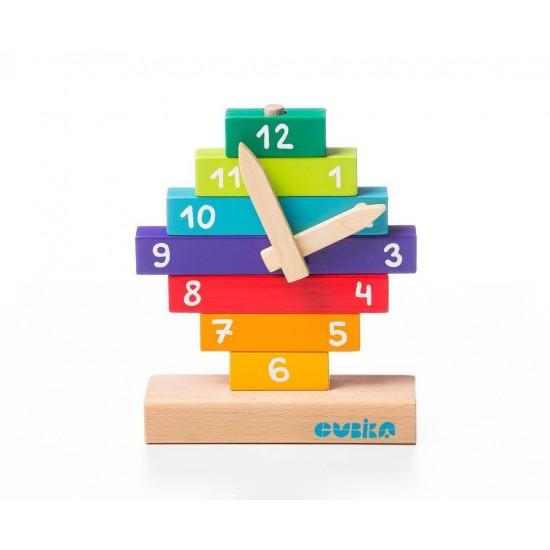 Jucarie din lemn Cubika - Sa invatam ceasul