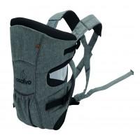 Marsupiu bidirectional Asalvo Baby Carrier Grey Melange